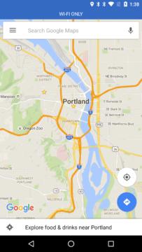 Mapy Google v režimu Wi-Fi