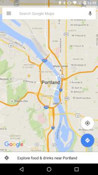 Mapy Google v normálním režimu