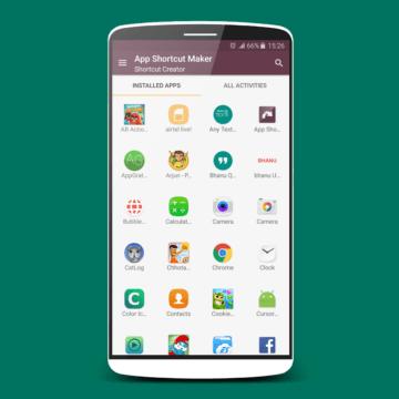 nové aplikace android zkratky