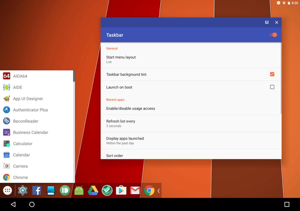 taskbar-android-app