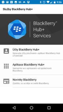 Aplikace BlackBerry pro Android