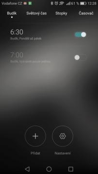 Mezi budíky nemůže chybět Huawei alarm