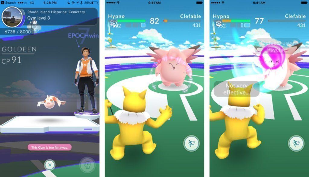 Chyby pri hrani Pokemon Go