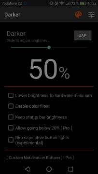 Jak pouzivat telefon v noci – darker 1