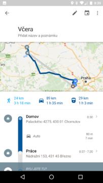 Mapy Google – časová osa