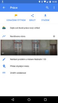 Mapy Google – měření vzdáleností