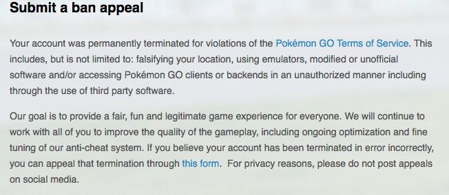 Pokemon Go permanentni BAN