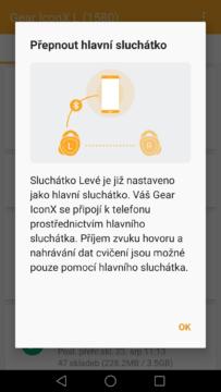 Samsung Gear IconX – aplikace Gear 2