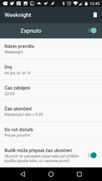 Režim Nerušit v Androidu N