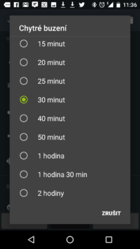 Český budík Sleep as Android