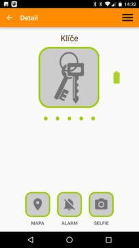aplikace Beenode – detail přívěsku