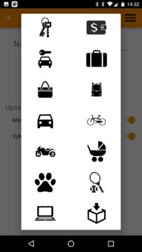 aplikace Beenode – ikonky přívěsku