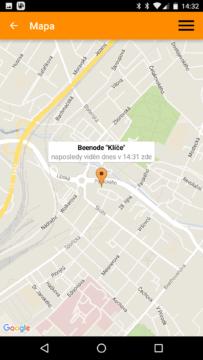 aplikace Beenode – mapa hledání