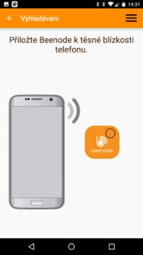 aplikace Beenode – párování přívěsku