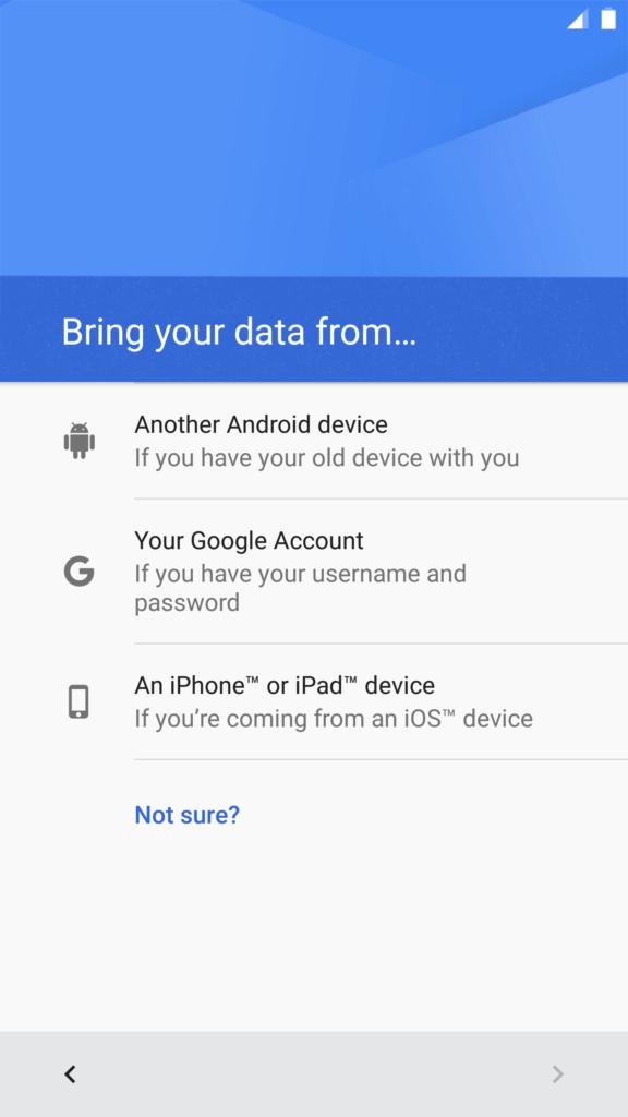 Android 7.0 Nougat nabízí import dat ze zařízení se systémem iOS