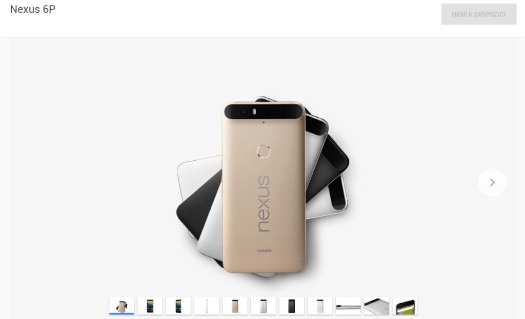 Telefon Nexus 6P je v Google Store beznadějně vyprodán