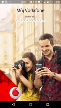 Přihlašovací obrazovka aplikace Můj Vodafone