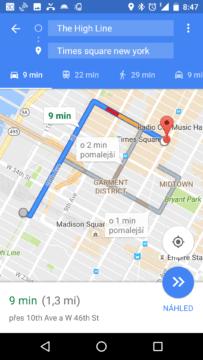 Vyhledání trasy v New Yorku