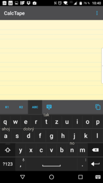 Tradiční klávesnice s písmenky