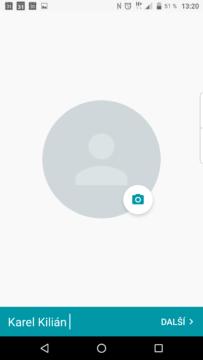 Dokončení profilu v aplikaci