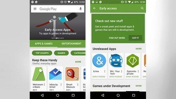 Předběžný přístup v Google Play