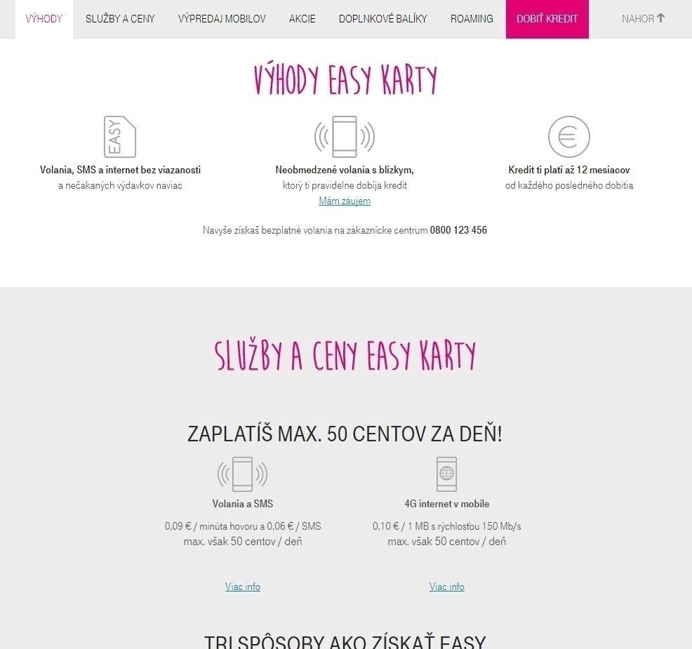 Výhody slovenské Easy Karty