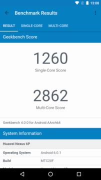 Výsledky benchmarku