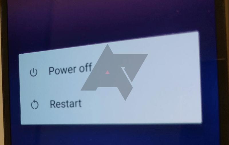 Nabídka vypnutí obsahuje volbu pro restart systému (Zdroj: Android Police)