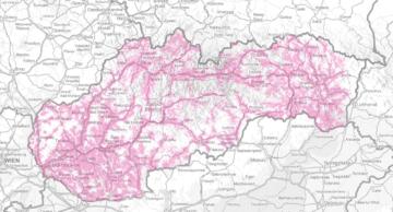 Slovensko: pokrytí super rychlým mobilním připojením (75 Mbps)