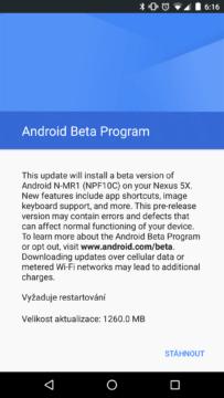 Redakční Nexus 5X dostal ráno update
