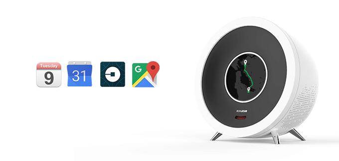 Bonjour je schopen fungovat se službami iCal, Kalendář Google, Mapy Google, Uber a mnoha dalšími