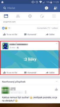 facebook-status-s-pozadim