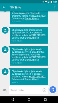 Google Messenger 1.9 - konverzace