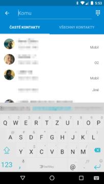 Google Messenger 1.9 - nová zpráva