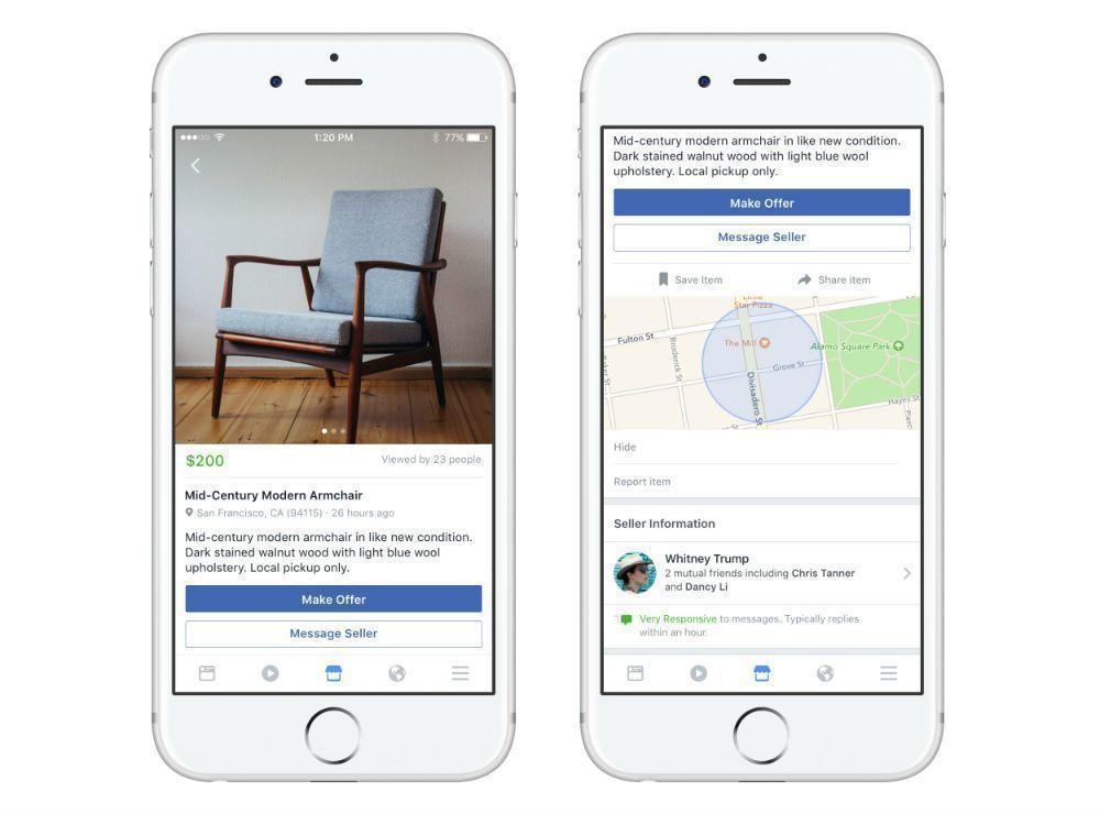 Facebook Marketplace přinese možnost prodávat a nakupovat věci v okolí