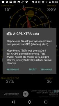 Správa dat A-GPS