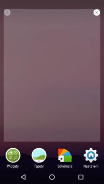 Domovská obrazovka Xperia Home Beta