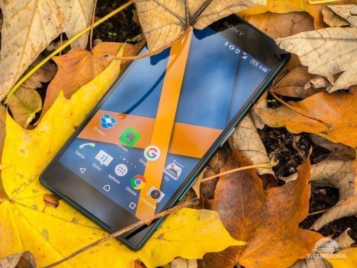 Sony Xperia Z5 - displej, barvy