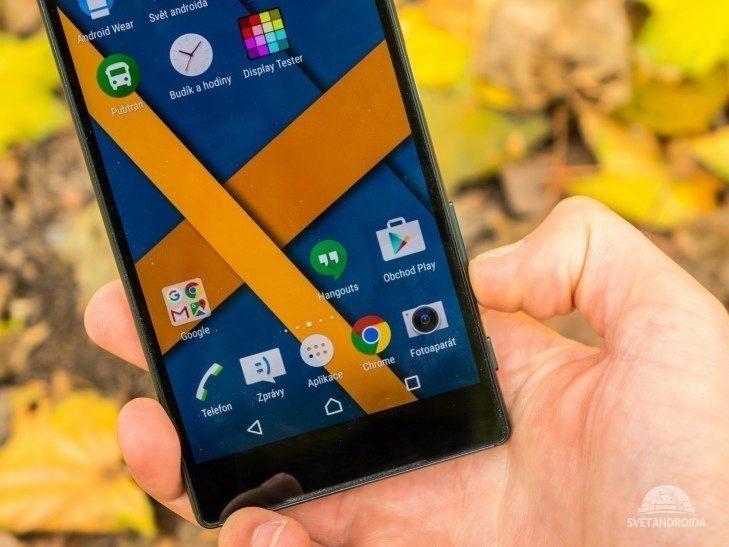 Sony Xperia Z5 -  konstrukce, tlačítko hlasitosti