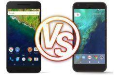 srovnání Google Pixel XL vs. Nexus 6P