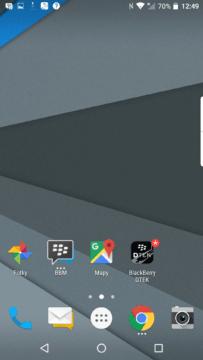 Levá domovská obrazovka