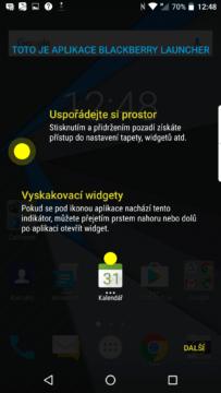 Představení prostředí: vyskakovací widgety