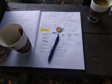 Zápisník a káva