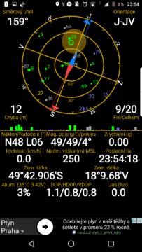 GPS viděla dostatek satelitů