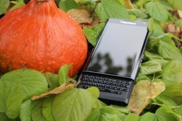 Vysunutá klávesnice BlackBerry Priv