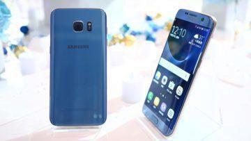 Galaxy S7 Edge v modré barvě - beta test