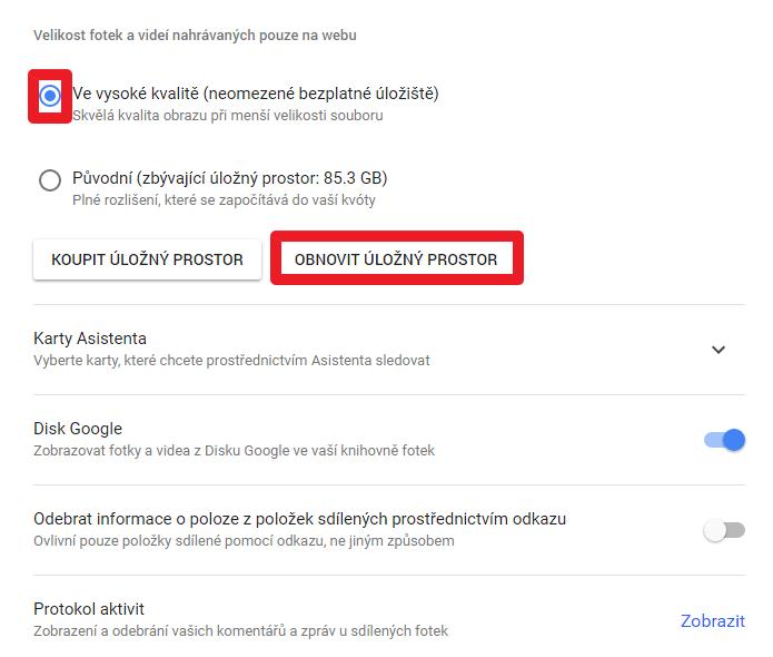 Jednoduchý způsob, jak uvolnit místo na Disku Google