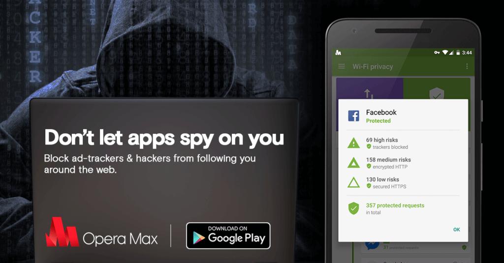 Opera Max v důvěrném režimu zobrazí špehující aplikace