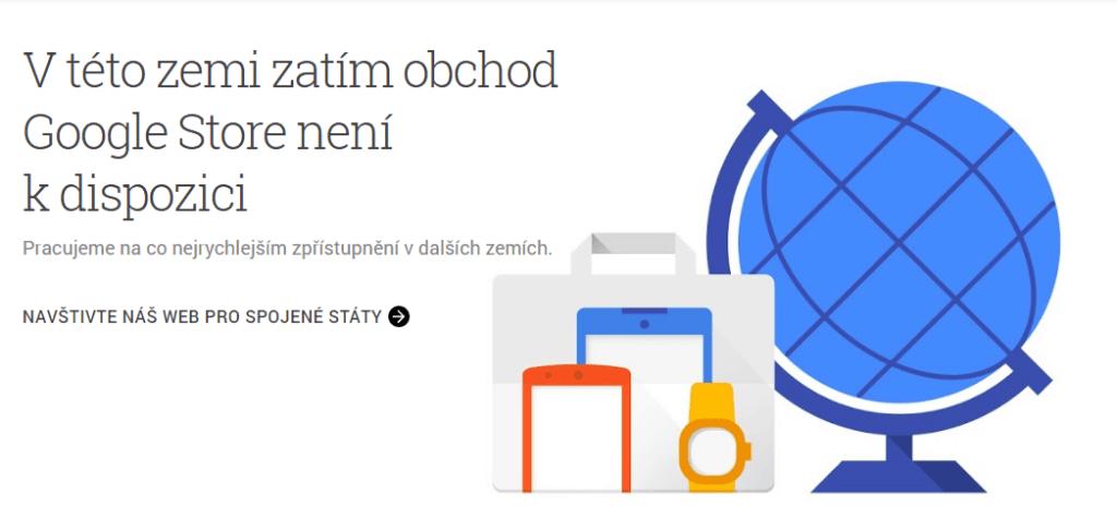 V Česku není Google Store pořád k dispozici