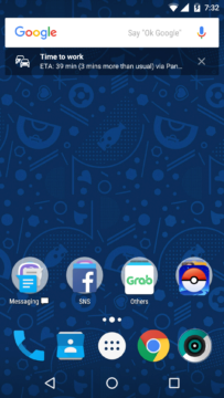 Vyhledávací panel aplikace Google